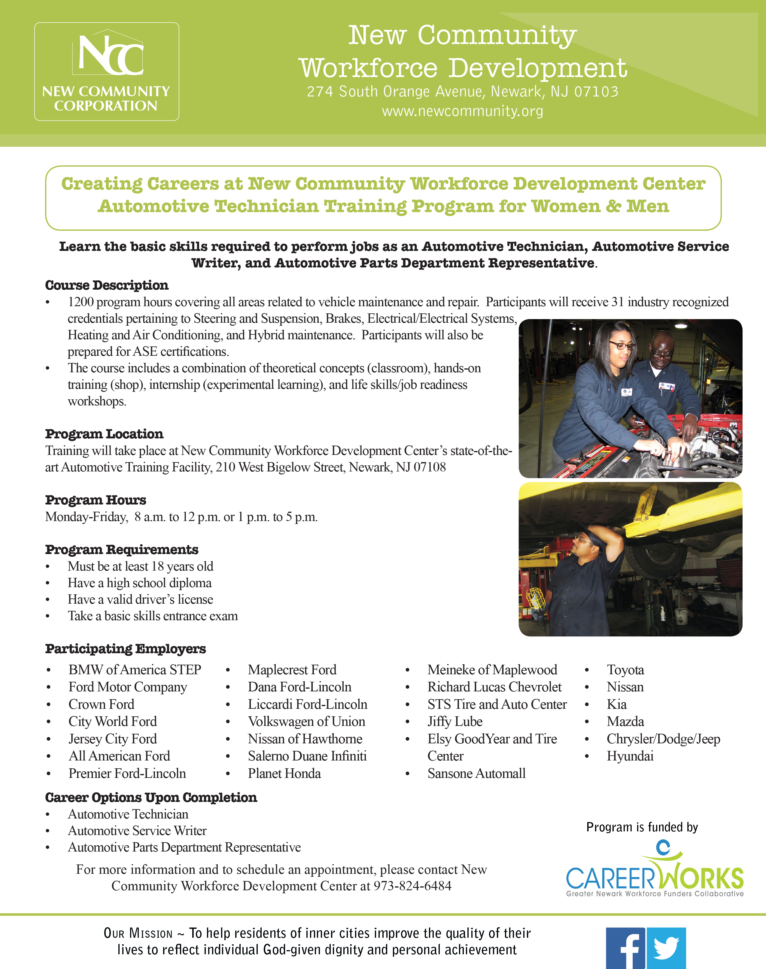 We are recruiting candidates for the automotive tech training automotive tech training flyer 1betcityfo Image collections