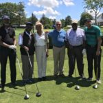 Dr. A. Zachary Yamba foursome with NCC Outreach Coordinator and Board Member Madge Wilson and NCC CEO Richard Rohrman.