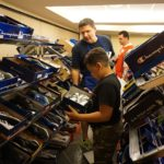 Children got to pick out a brand new pair of shoes at the Back 2 School Store.