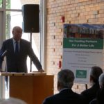 Red Stone Equity Partners Managing Director of Acquisitions Richard Roberts giving remarks.