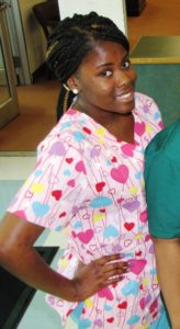 Mizani Drummond completed the patient care technician program at the New Community Workforce Development Center and now works as a patient care assistant in an assisted living facility in Texas.