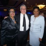 Newark Central Ward Councilwoman Gayle Chaneyfield Jenkins, whose father Joe Chaneyfield was an original New Community Board Member; NCC CEO Richard Rohrman; and retired HUD Field Office Director Diane Johnson at the NCC 50th Anniversary Gala.