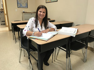 Gloria Orjuela emigrated from Colombia to Canada and then to the United States. She has taken classes at the New Community Adult Learning Center and serves as a volunteer there.