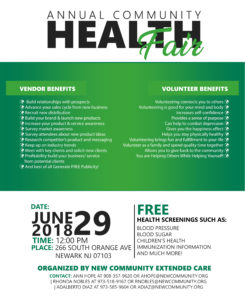 NCC - Annual Health Fair 2018 Vendor Benefits 13x16