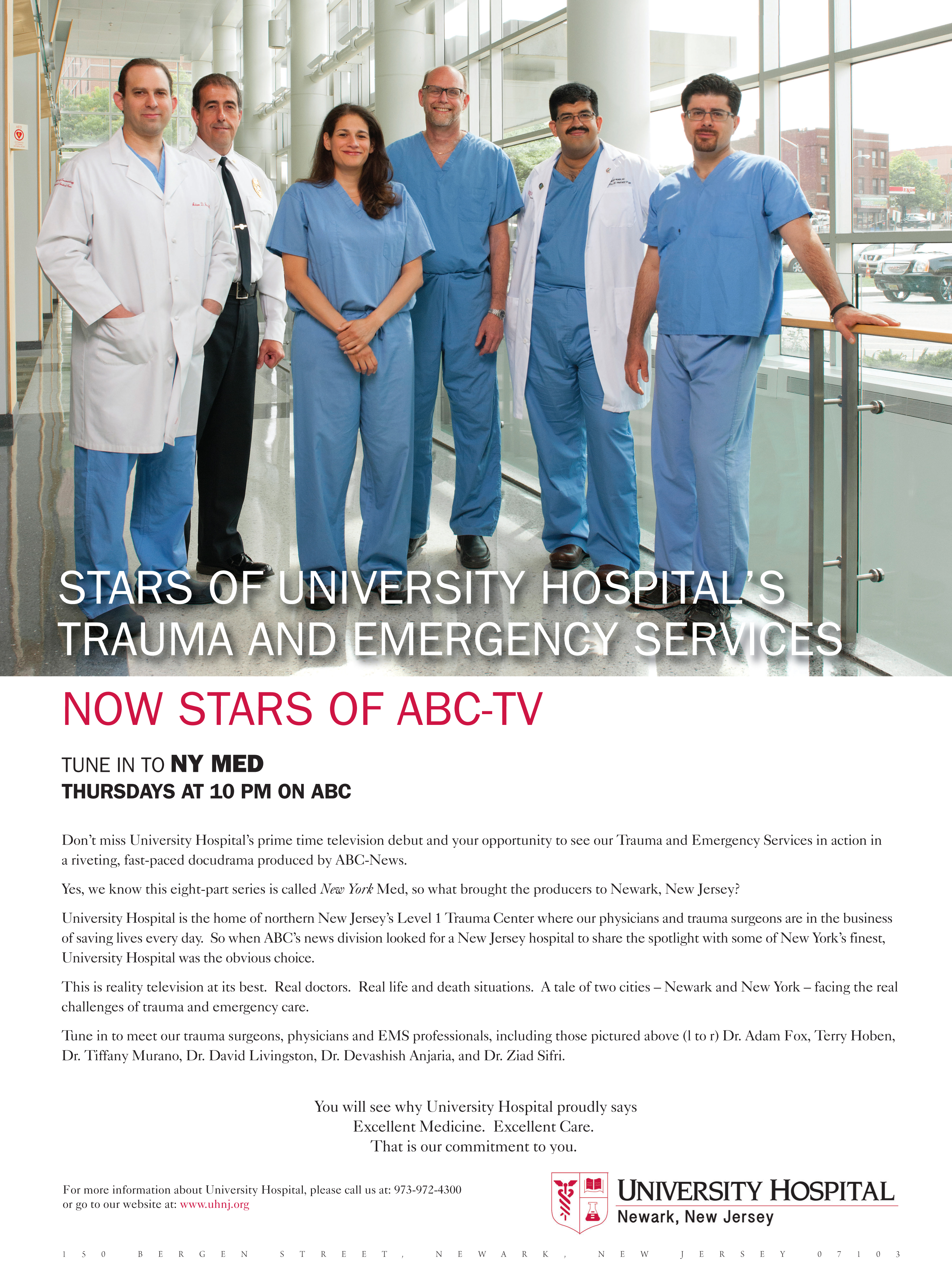 Stars Of University Hospital's Trauma And Emergency Services