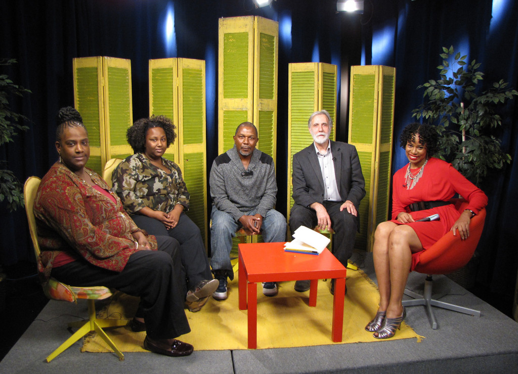 Live from the studio, from left: Newark residents Kim Davis-Phillips with daughter Christen Davis and husband Christopher Phillips, Richard Cammarieri, NCC Director of Special Projects, and show host Lisa Durden.
