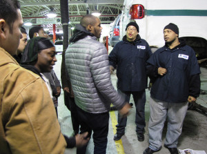 Washington Academy tour of auto center