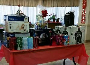 Associates Christmas gift table