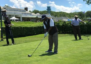 New Community Board President Dr. A. Zachary Yamba at last year's Golf Outing.