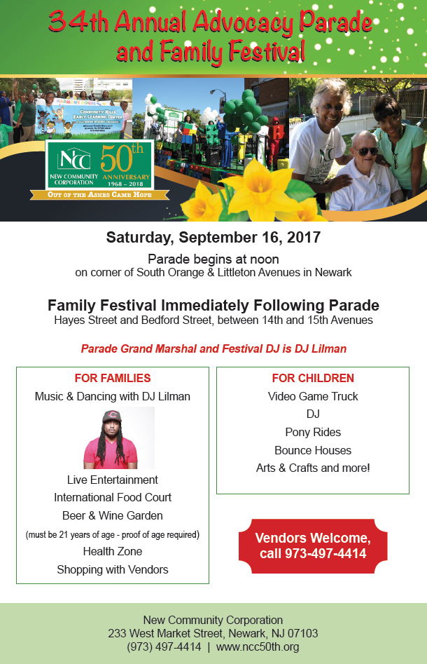 Come To NCC's 34th Annual Parade And Festival Sept. 16