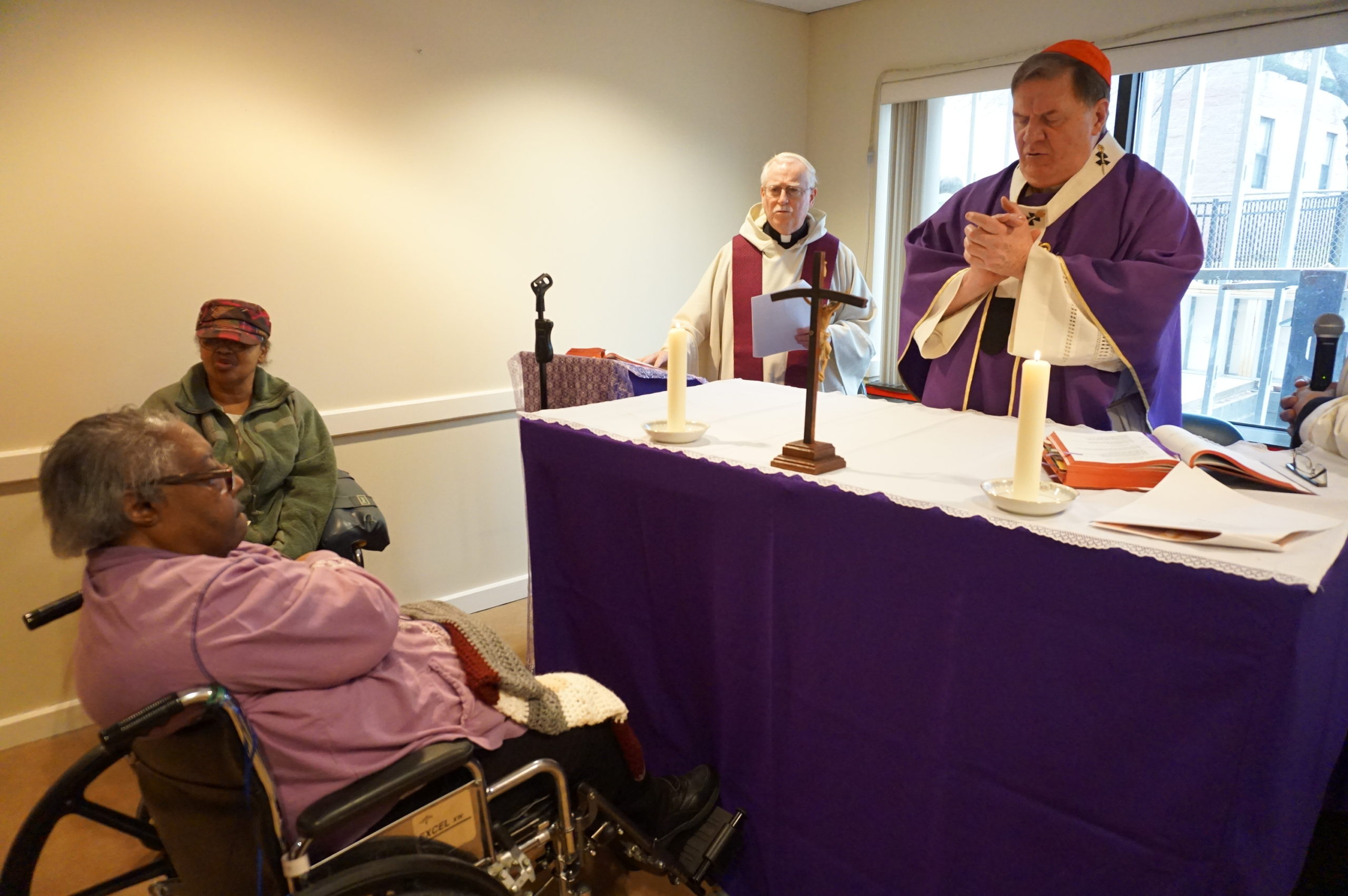 Cardinal Tobin Visits New Community Extended Care