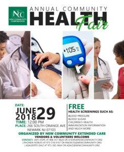 NCC - Annual Health Fair 2018 13x16