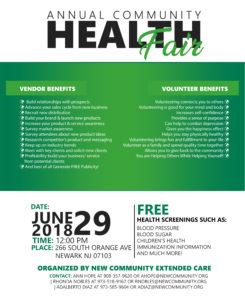 NCC - Annual Health Fair 2018 Vendor Benefits 13x16