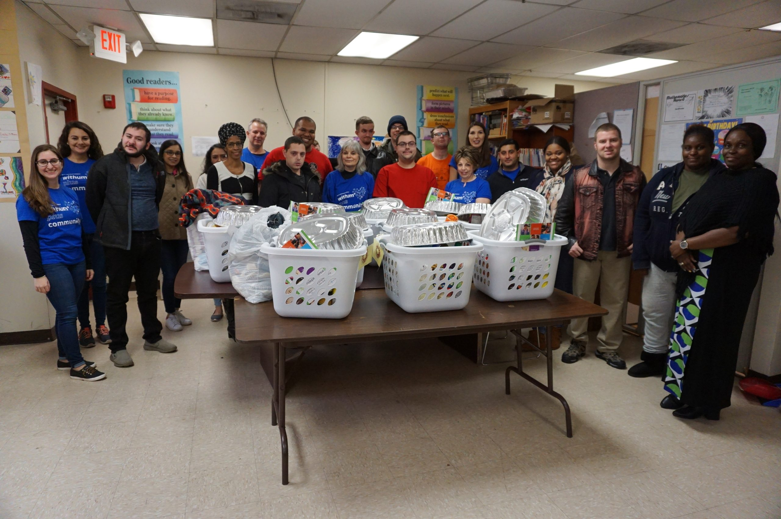 Harmony House Residents Receive Thanksgiving Baskets
