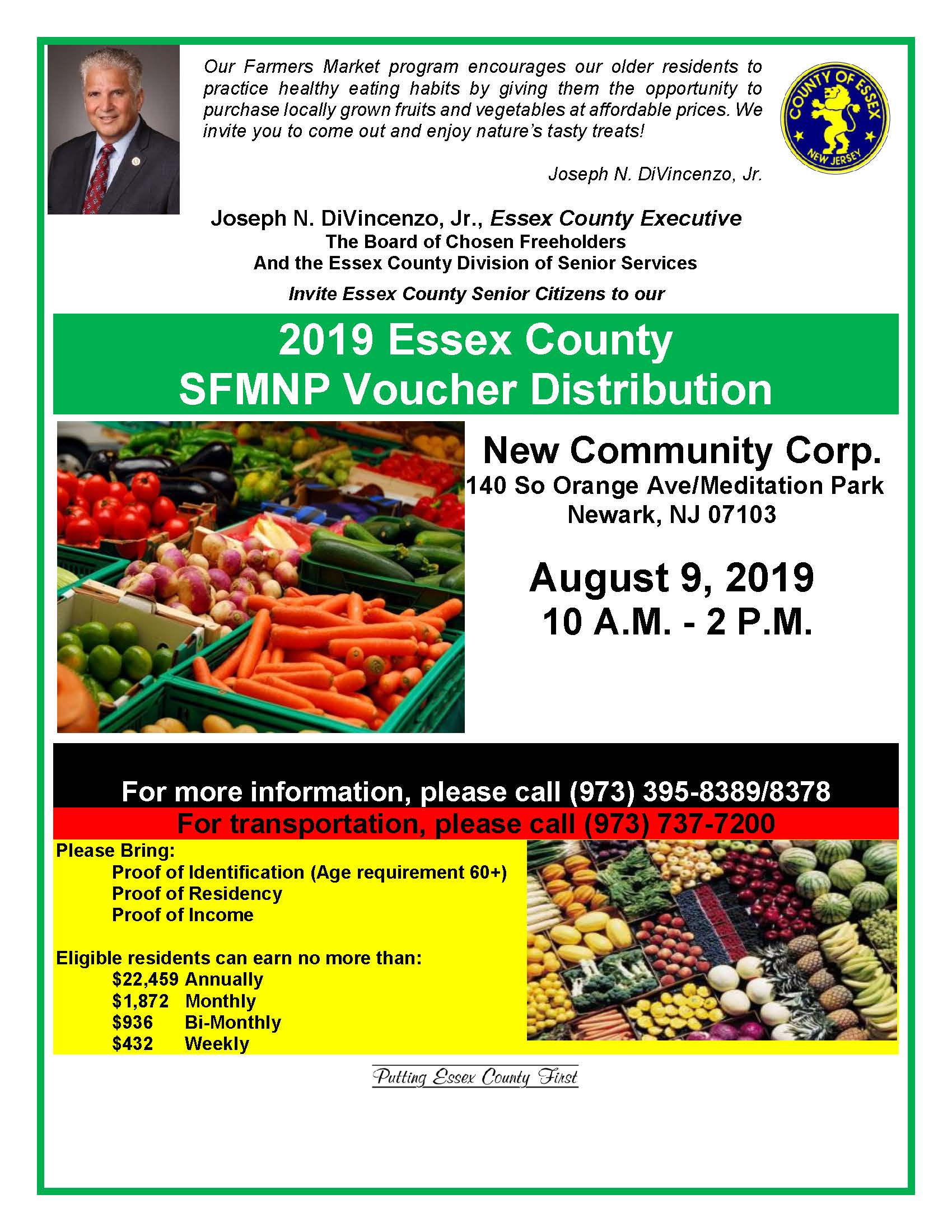 New Community to Host Farmers Market for Seniors Aug. 9