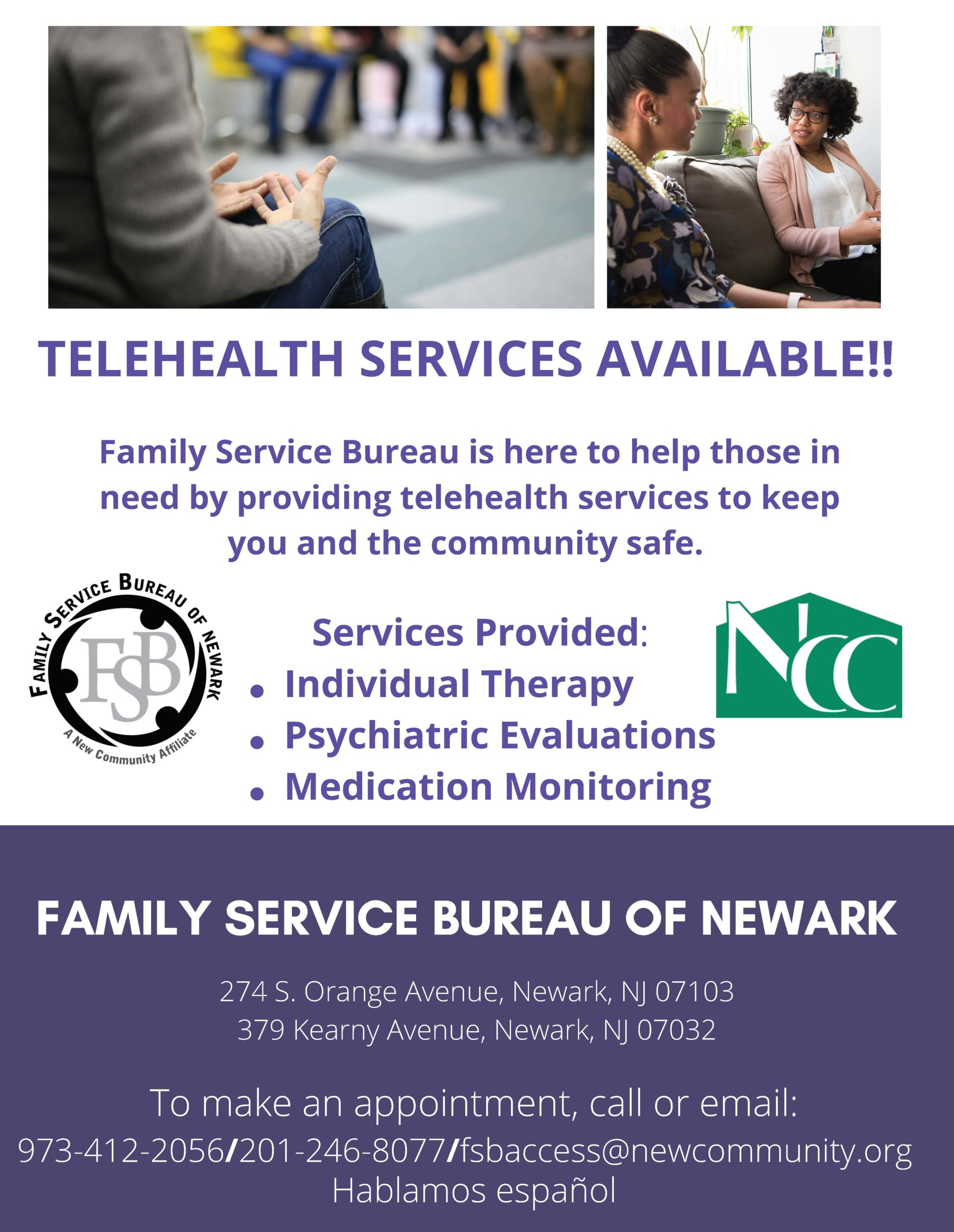 Due to the coronavirus pandemic, telehealth services are being provided. Click here for details.