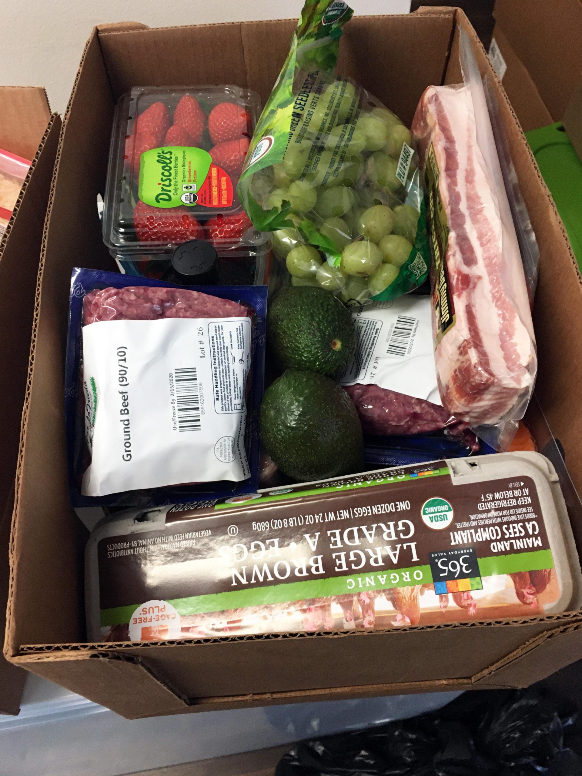 Food Distribution Commodities 2-4-2020 Food Box