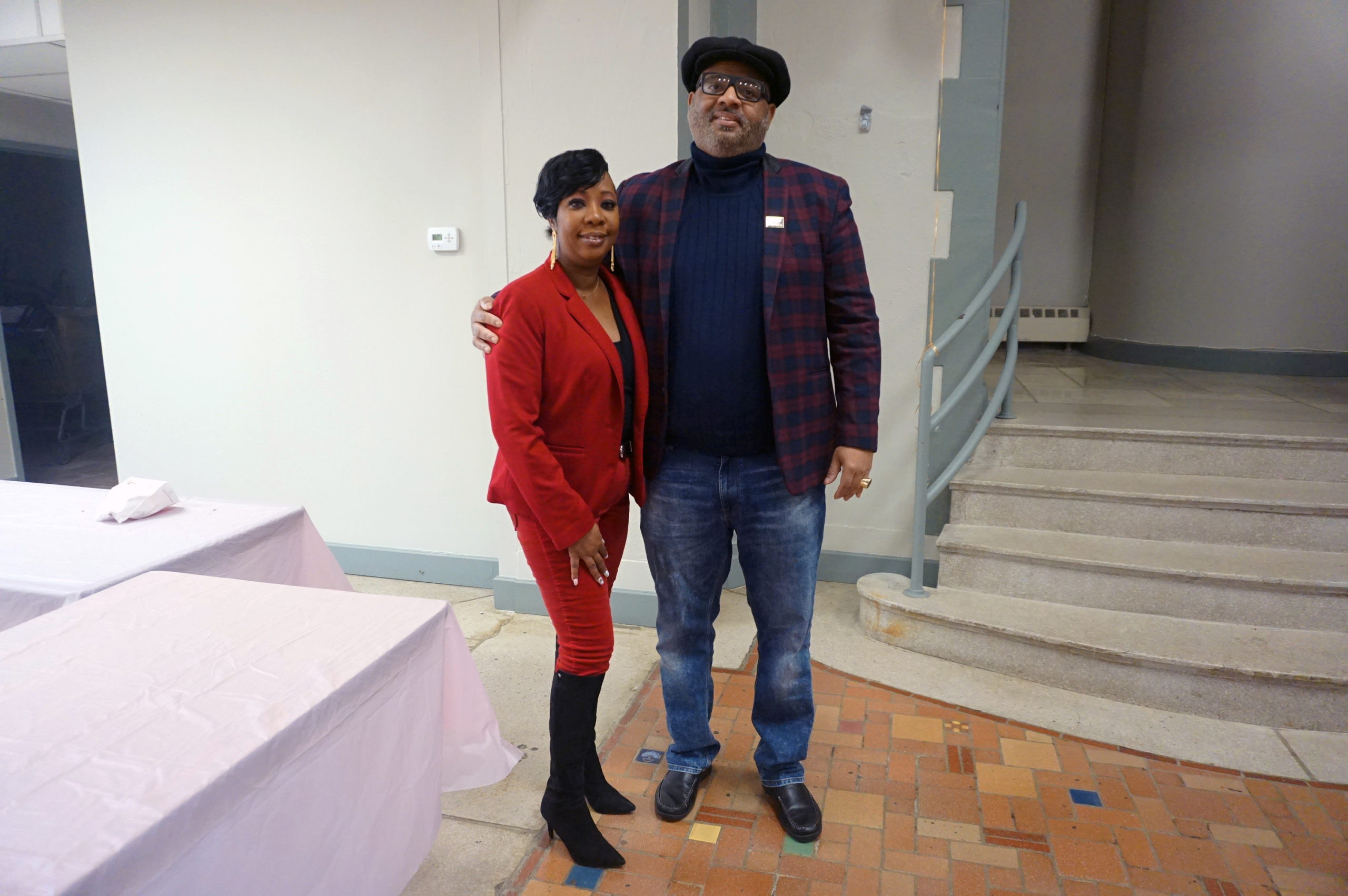 Wear Red Day 2020 Donnette Burrowes-Williams and Bishop Speight
