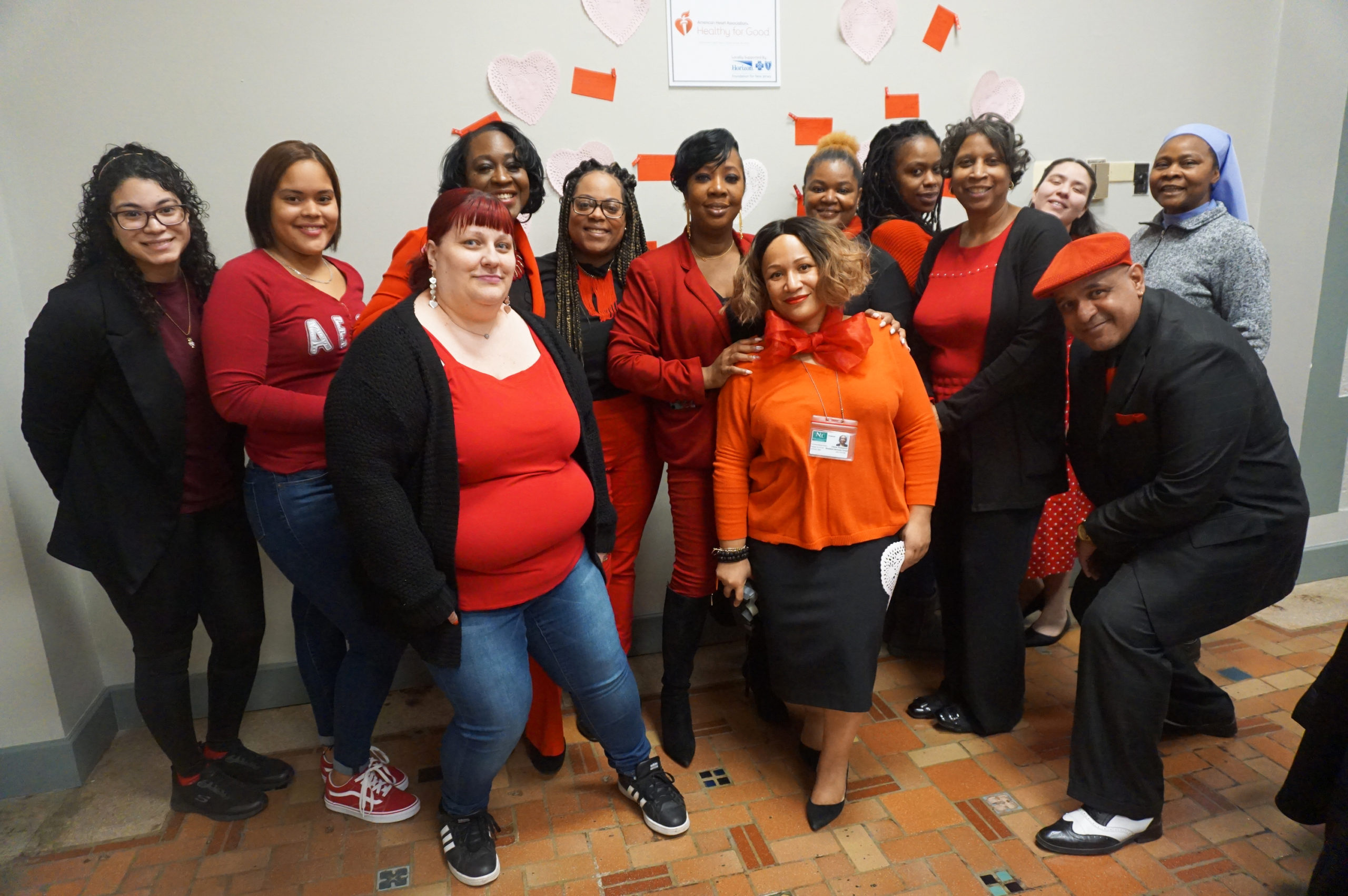 Wear Red Day 2020 Resident Services Staff