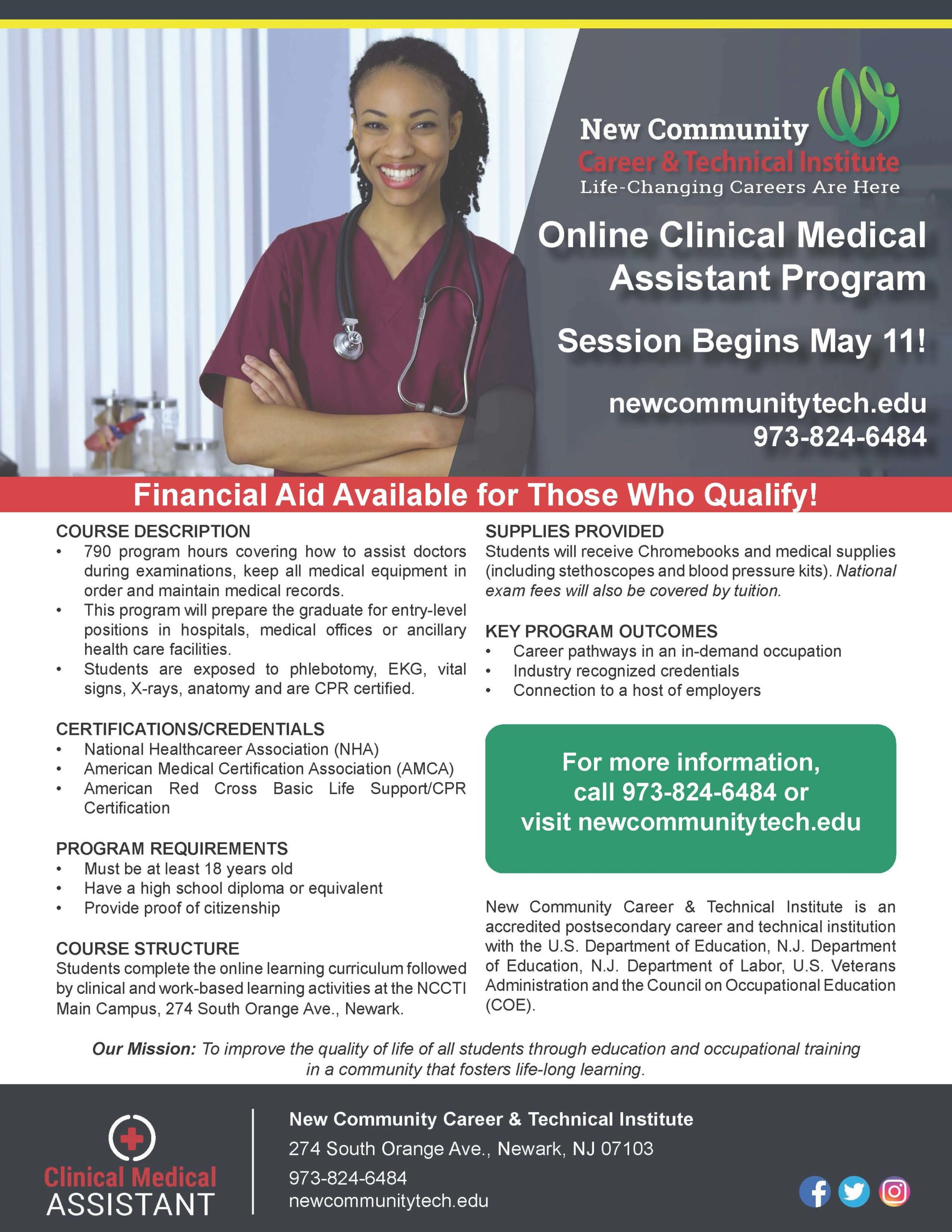 NCCTI Online Health Care Programs Begin