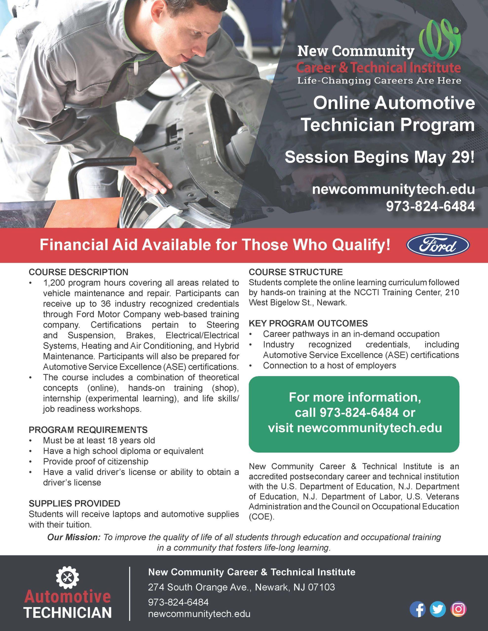 Online Automotive Program Flyer 4-30-2020