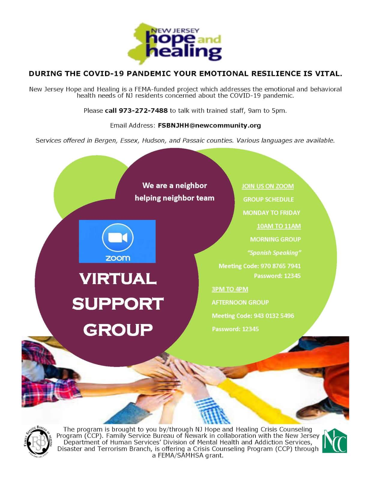 COVID-19 Virtual Support Group (Spanish Speaking)