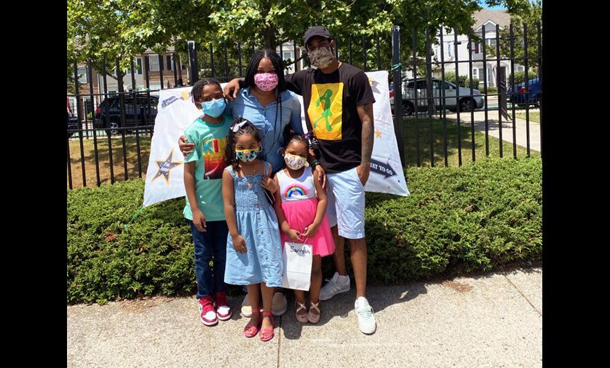 CHELC PreK 3 Graduation 2020 Family of 5 for Website Black Background