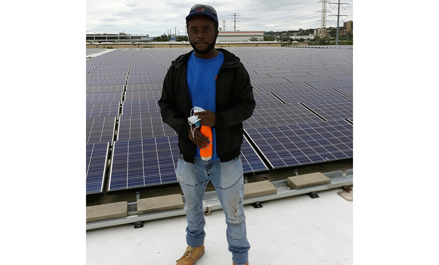 New Community Career & Technical Institute Building Trades Graduate Finds Success as Solar Panel Technician