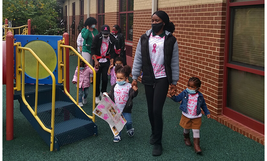 CHELC Breast Cancer Walk 2020 Walking in Playground 1 for Website