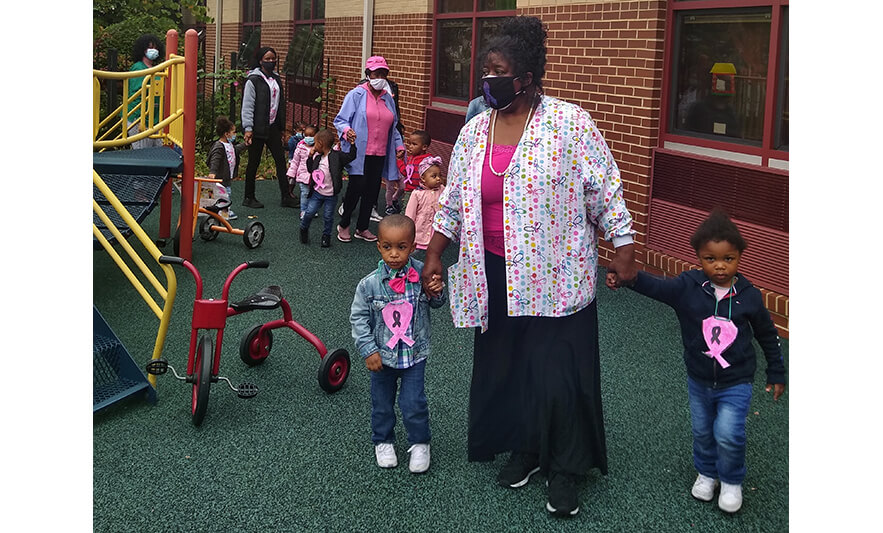 CHELC Breast Cancer Walk 2020 Walking in Playground 2 for Website