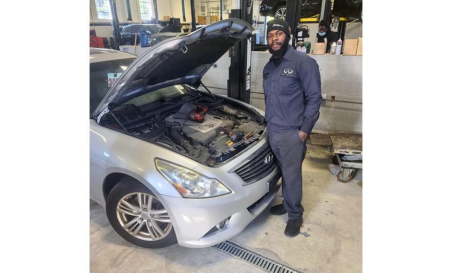 New Community Career & Technical Institute Graduate Enjoys Career as Automotive Technician