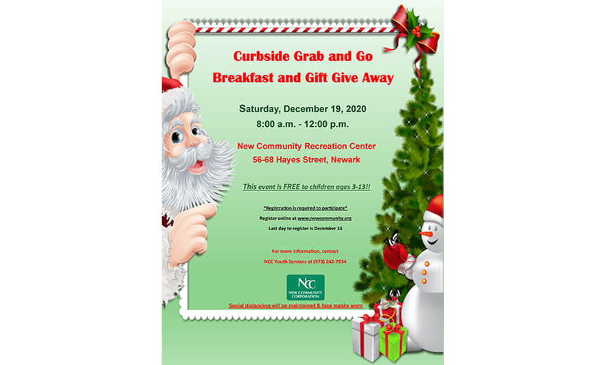 NCC Youth Services to Host Curbside Holiday Event for Children