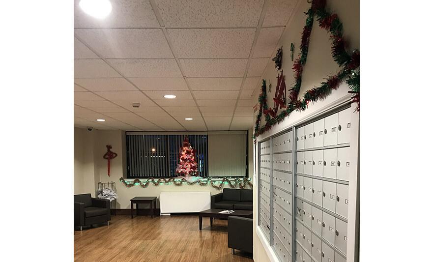 Roseville Senior Mail Room Holiday Decorations 2020 for Website
