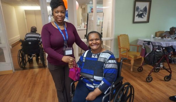 Extended Care Adopt-A-Resident Day Yonette Semple with Resident